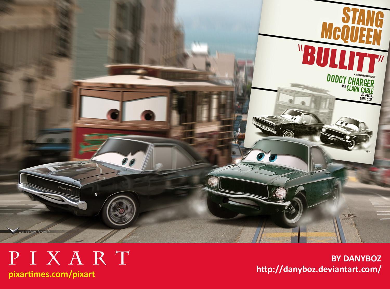 Cars Bullitt Poster by Danyboz