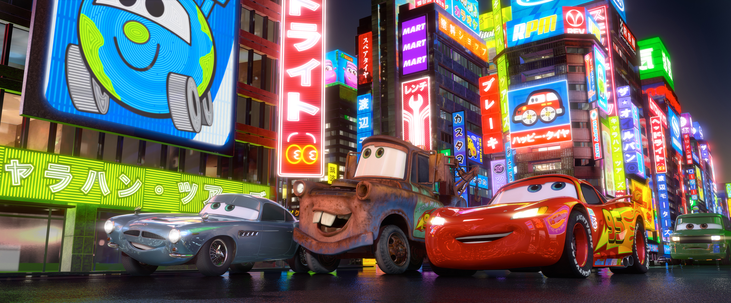 CARS 2 Lightning Mater Finn