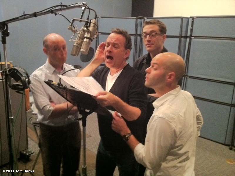 Tom Hanks Doing Voicework