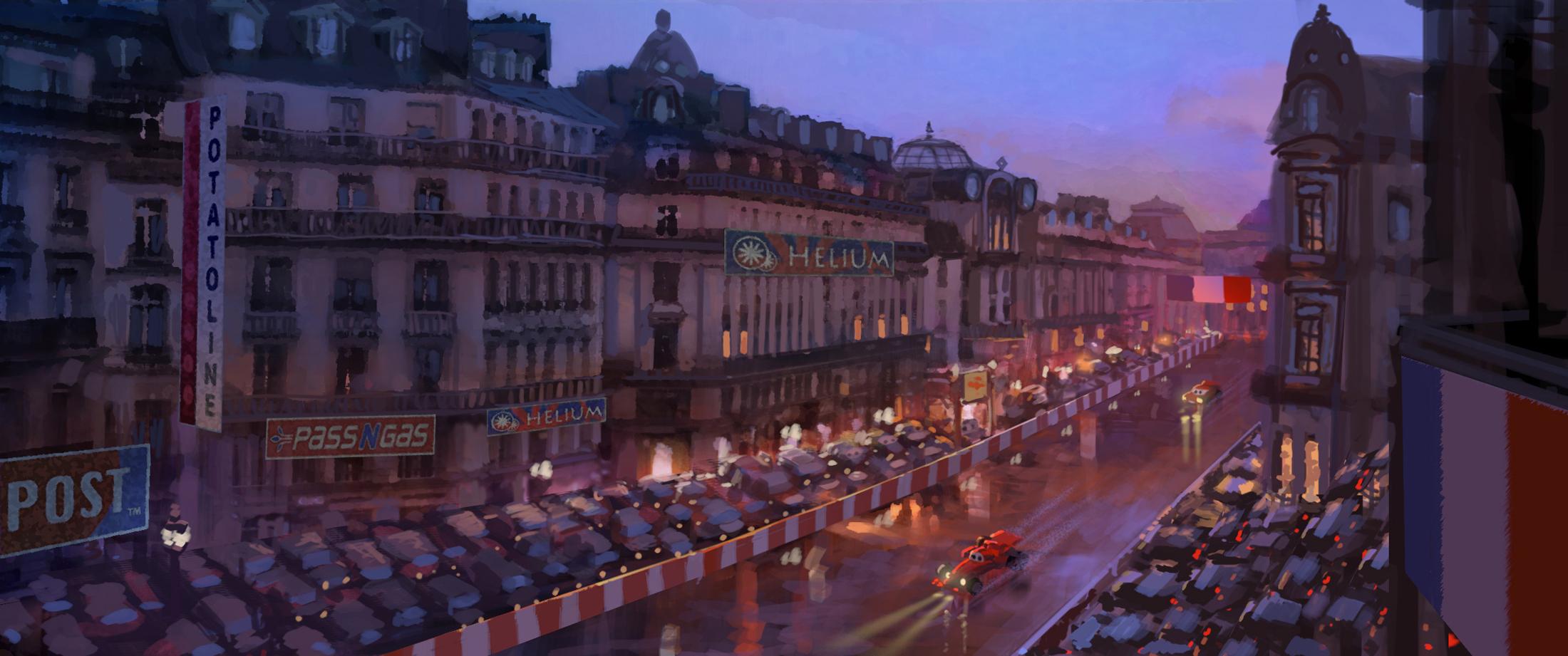 Disney pixar releases plethora of cars 2 concept art for Salon pixar paris