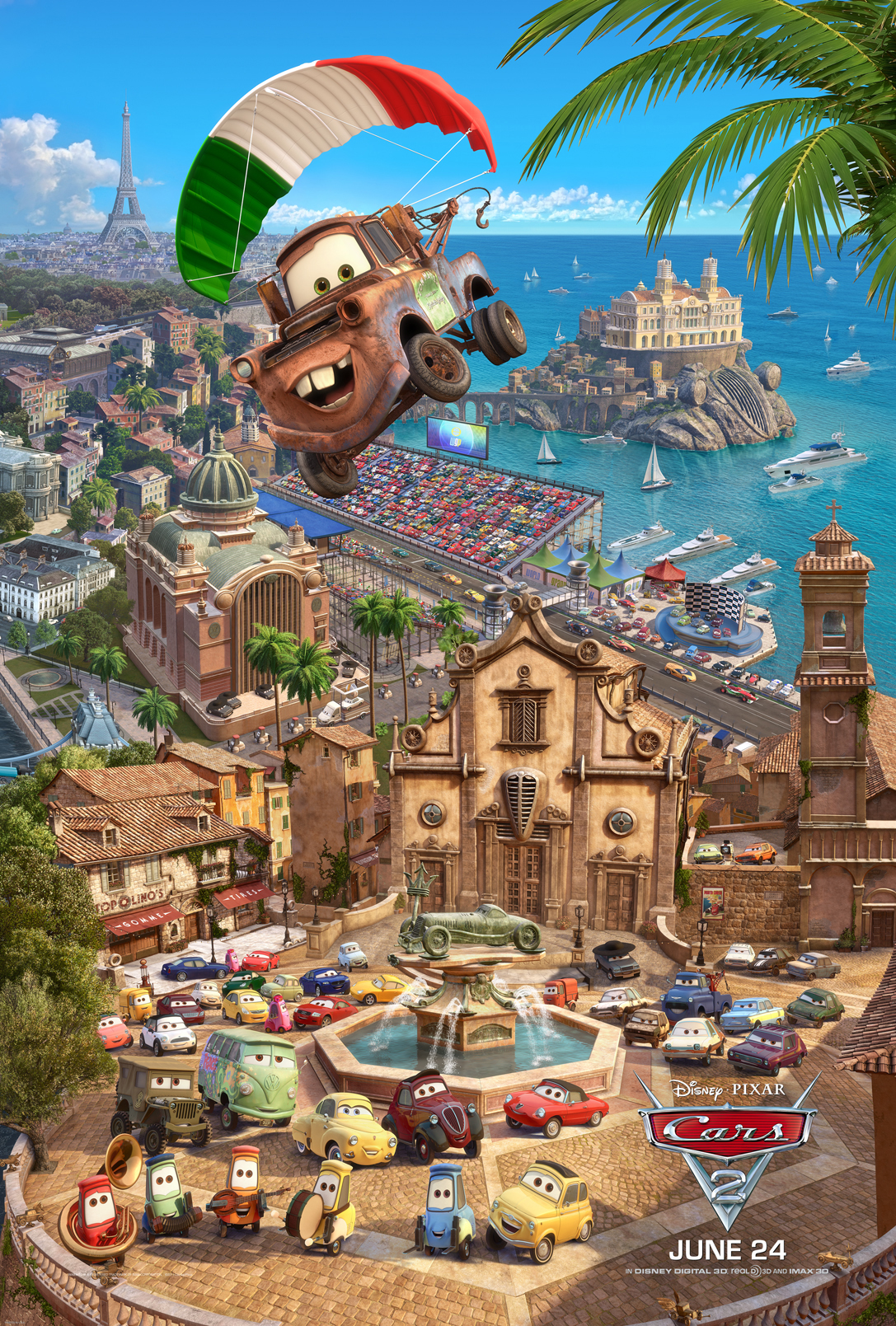 Apple Unveils Exclusive Cars 2 Triptych Poster