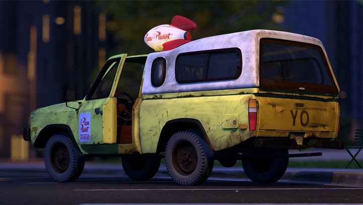 Pizza Planet truck in 'Toy Story'