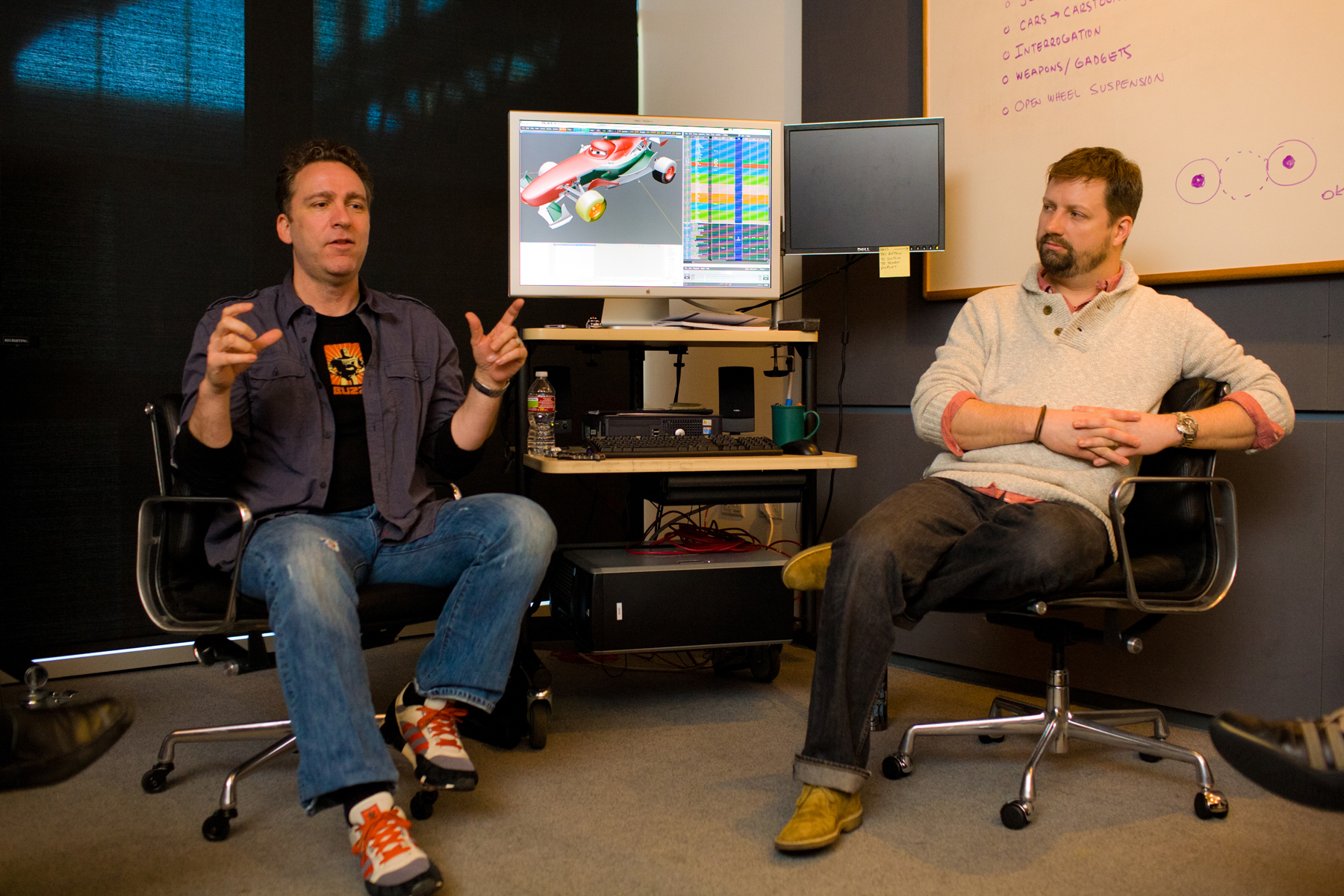 Exclusive: Cars 2 Supervising Animators Shawn Krause and Dave Mullins Talk Pixar Animation (Part 1)