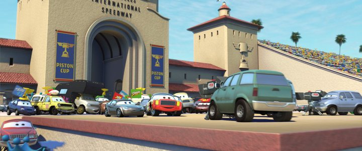 Pizza Planet Truck Spotted In Cars 2 Triptych Poster?