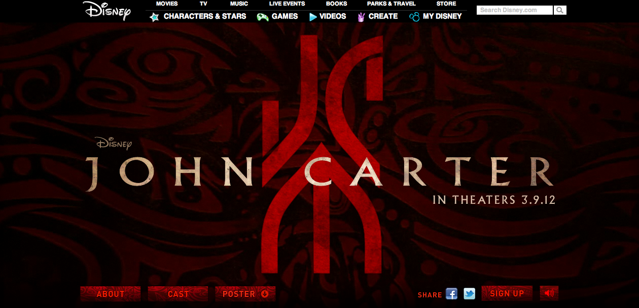 John Carter Website
