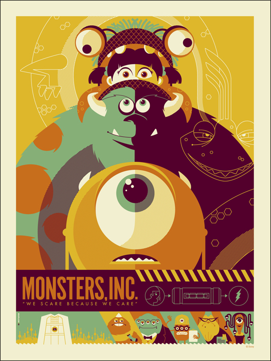 Monsters Inc Mondo Poster