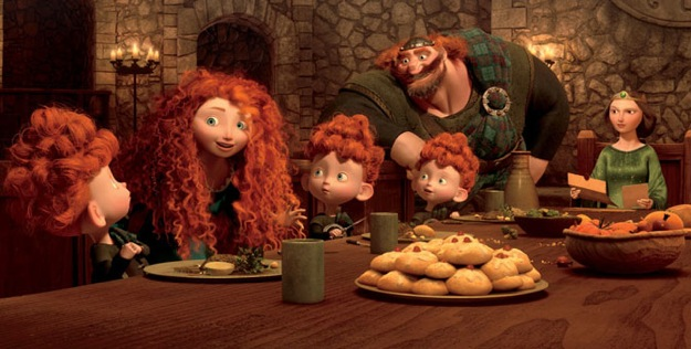 Brave - Merida At Table With Family