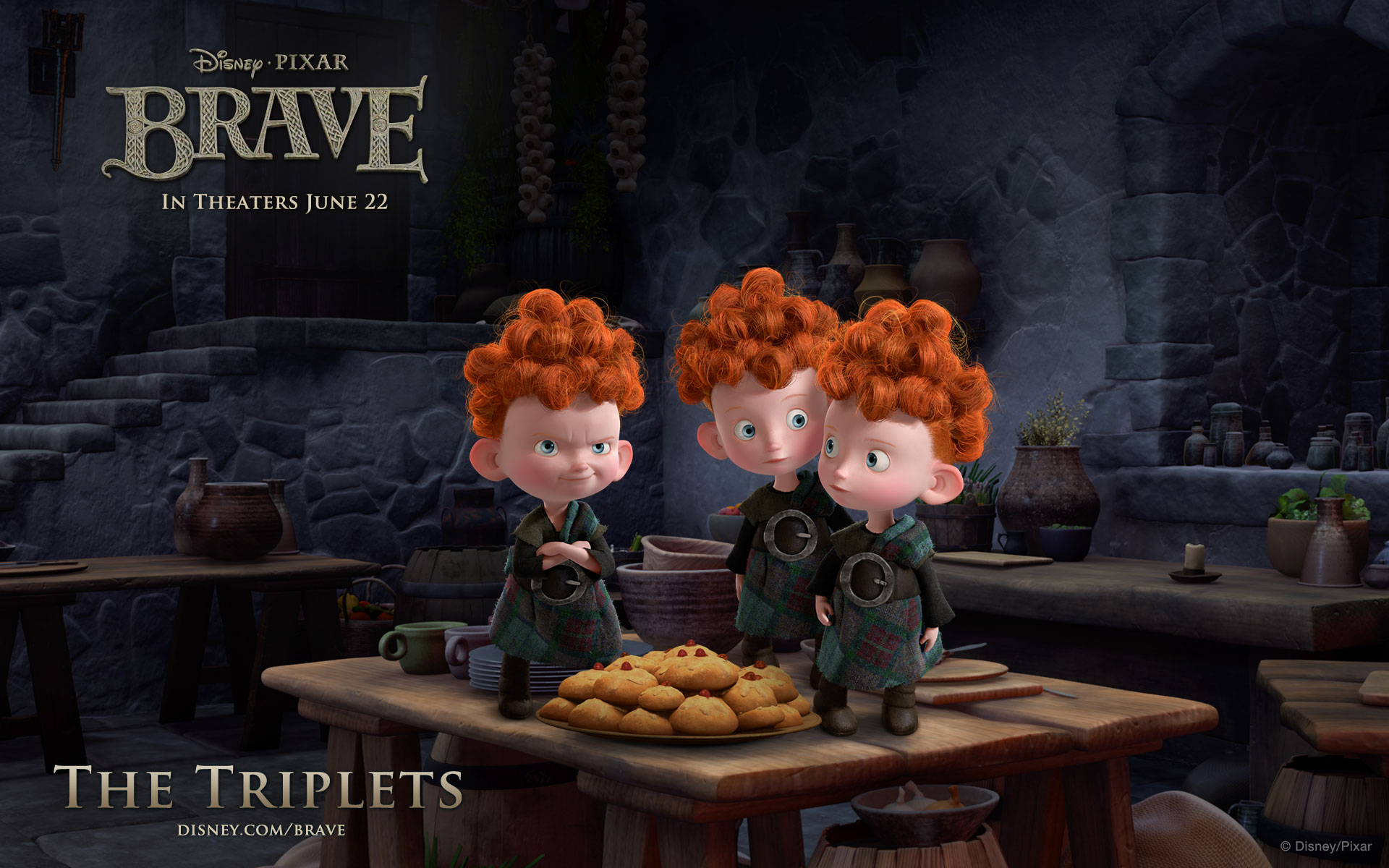 Brave - Triplets Wallpaper