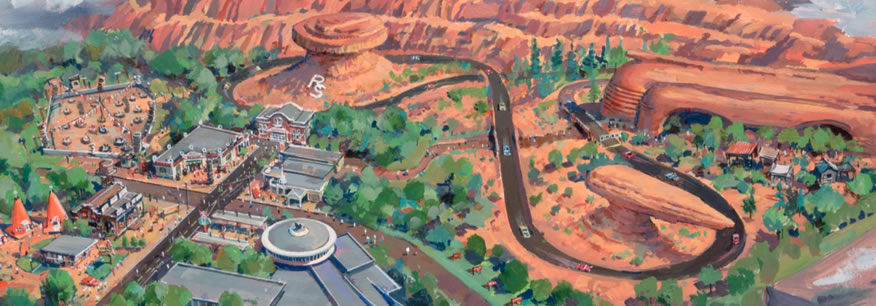 Cars Land Artwork