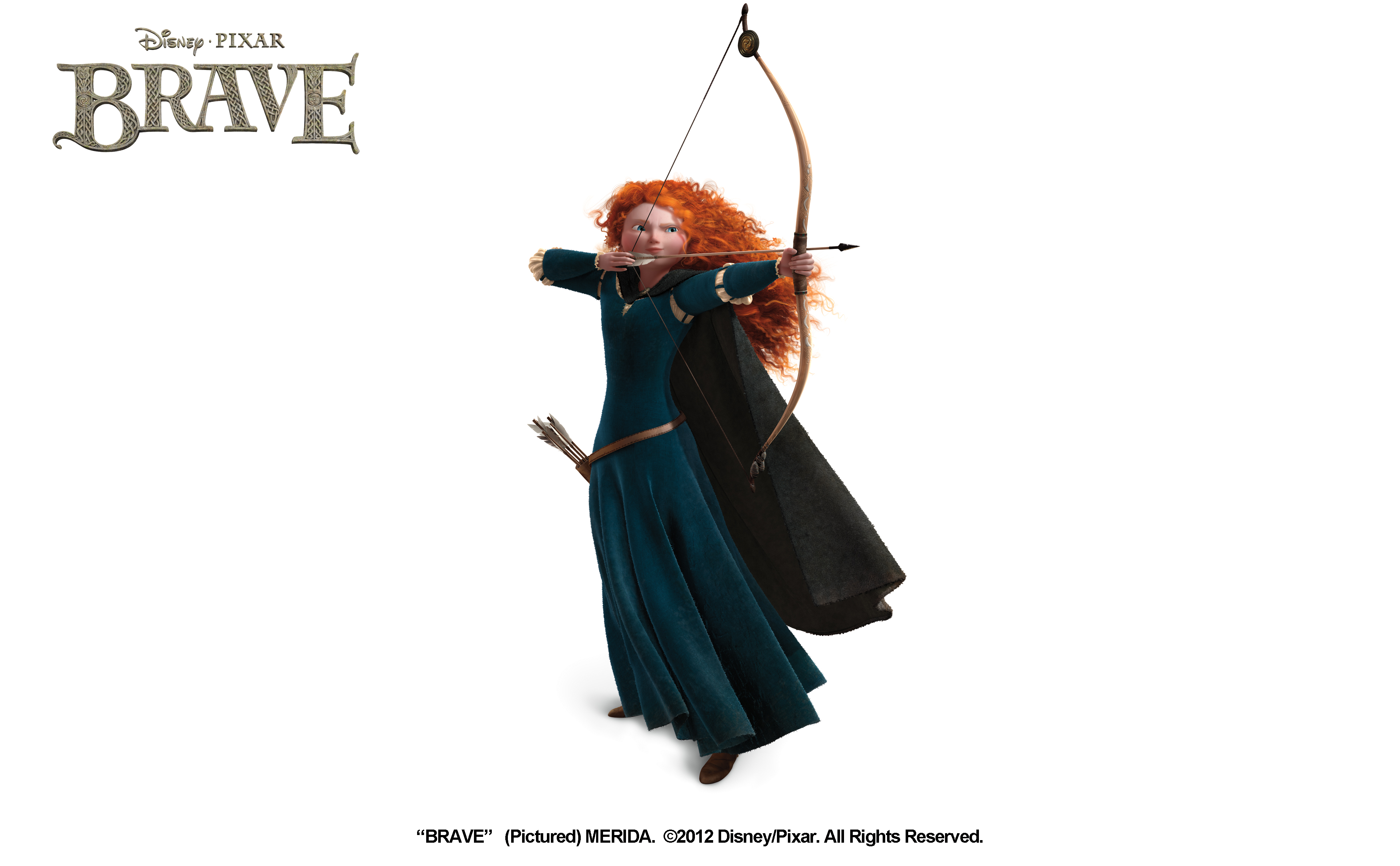 Brave' concept art for merida and angus