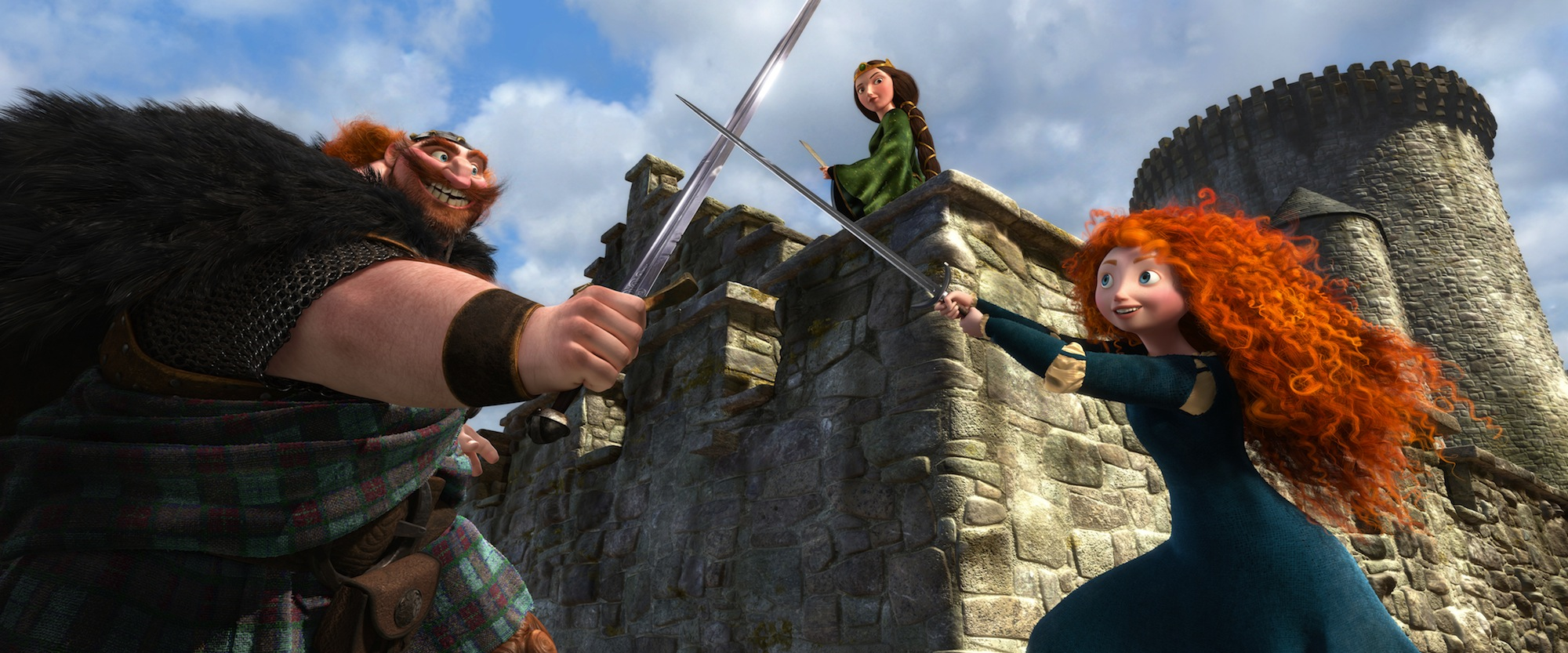 Brave - Merida, Sword, and Fergus