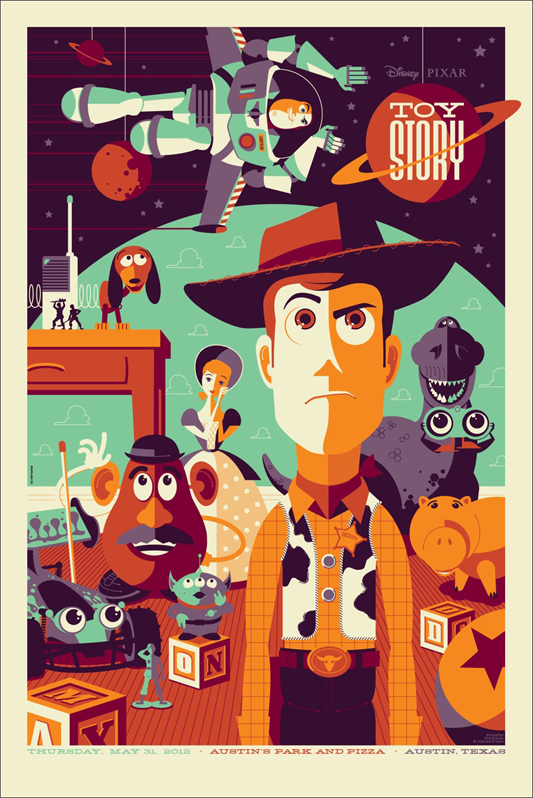 Toy Story Mondo Poster by Tom Whalen