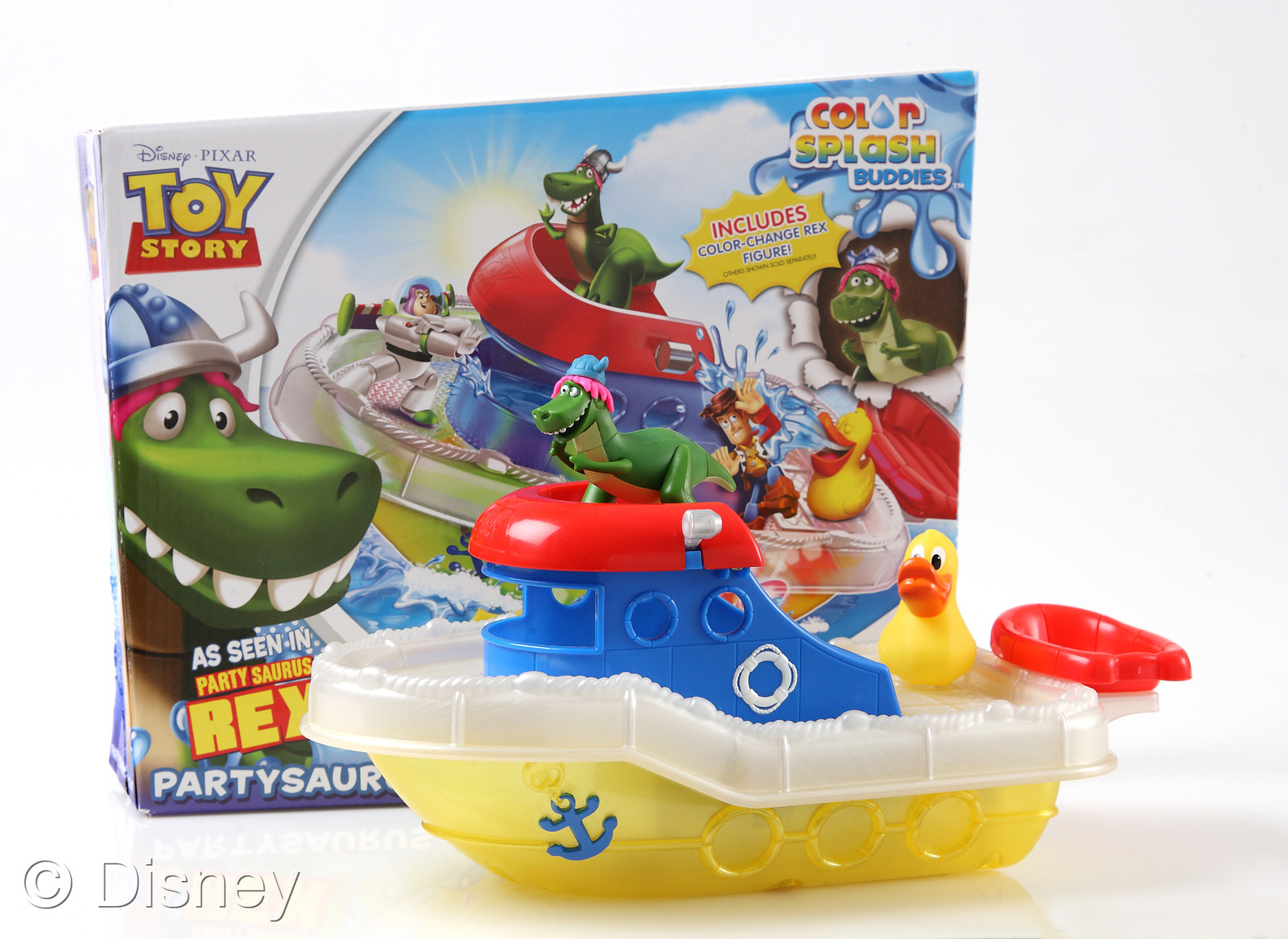 form of a bath set  To throw some more evidence onto that rumor  the  packaging states  As Seen In Partysaurus Rex   The splash boat and splash  buddies. Disney Holiday Gift Preview 2012  Pixar Merchandise