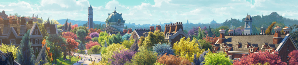 Monsters University Campus Artwork