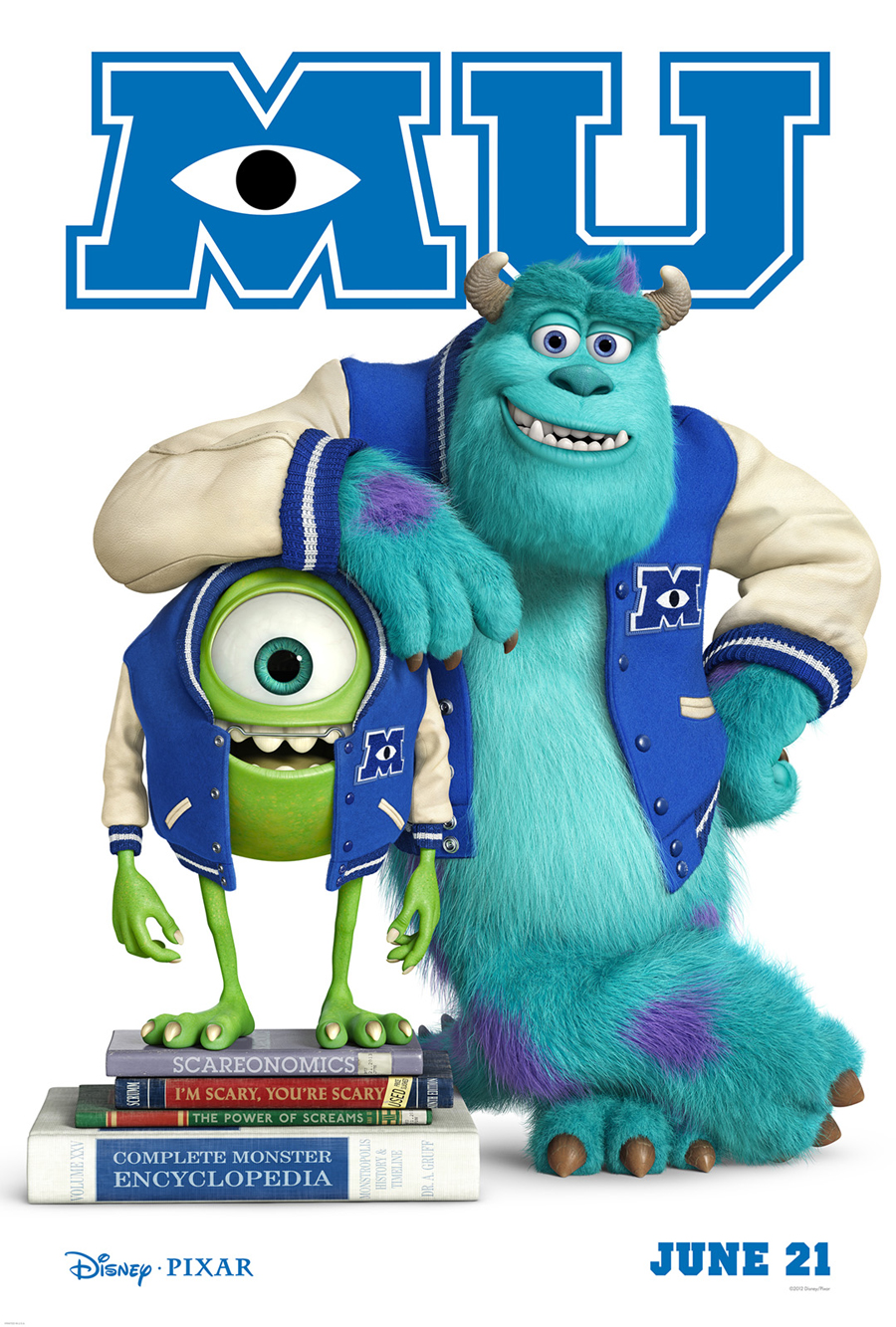 New monsters university teaser poster features college age mike fandango voltagebd Image collections