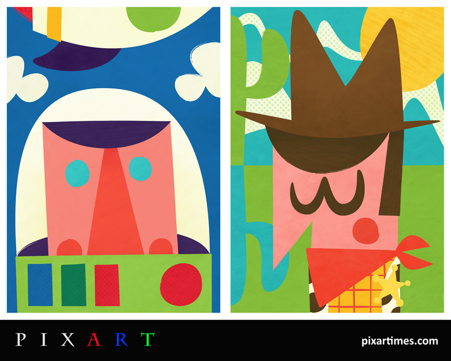 PixArt: November 2012 Feature – Abstract Buzz and Woody