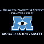 Monsters University - Message From The Dean