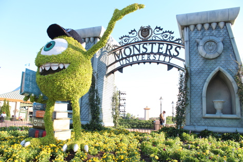 'Monsters University' Topiaries Invade Epcot