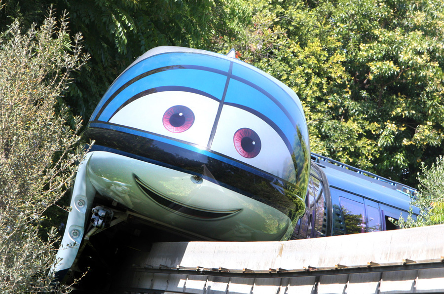 Cars Land - Disneyland Monorail