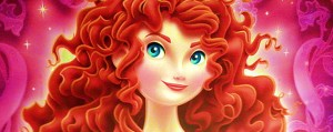Merida Disney Princess Artwork Close-Up
