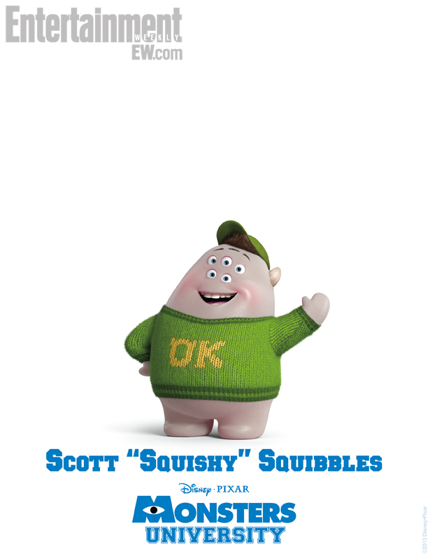 Monsters University Character Poster - Scott Squishy Squibbles