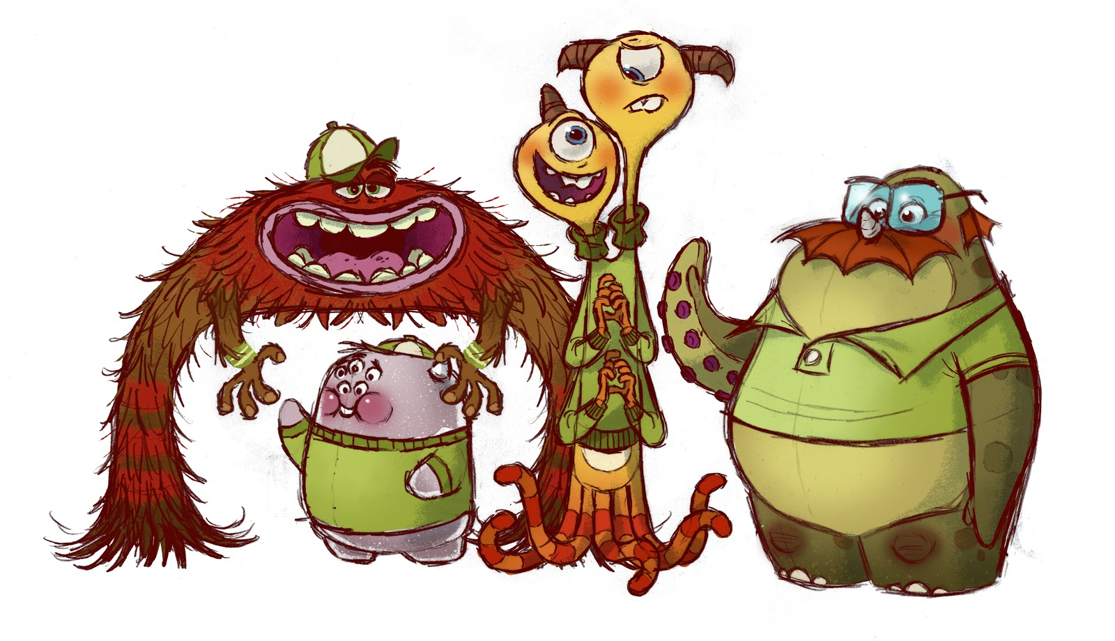 Monsters University Concept Art - Oozma Kappa