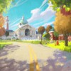 Monsters University Concept Art - School Road
