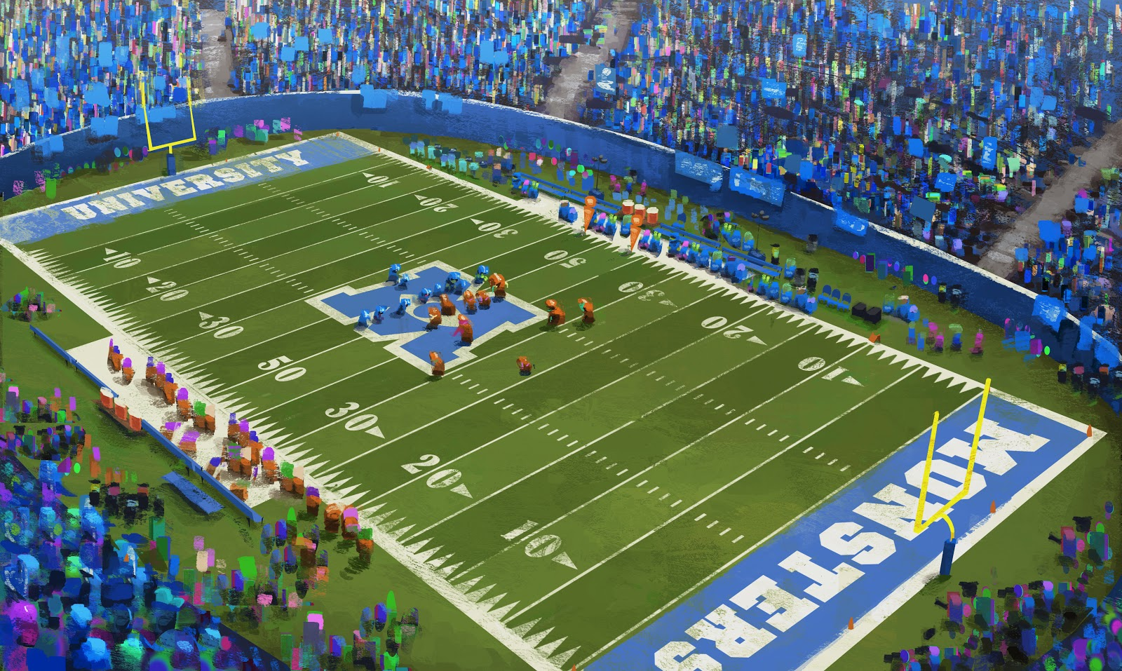 Monsters University Concept Art - Stadium