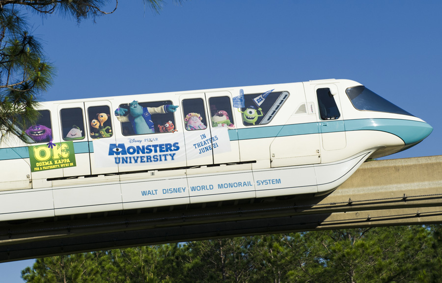 Monsters University - Disney World Monorail Close-Up