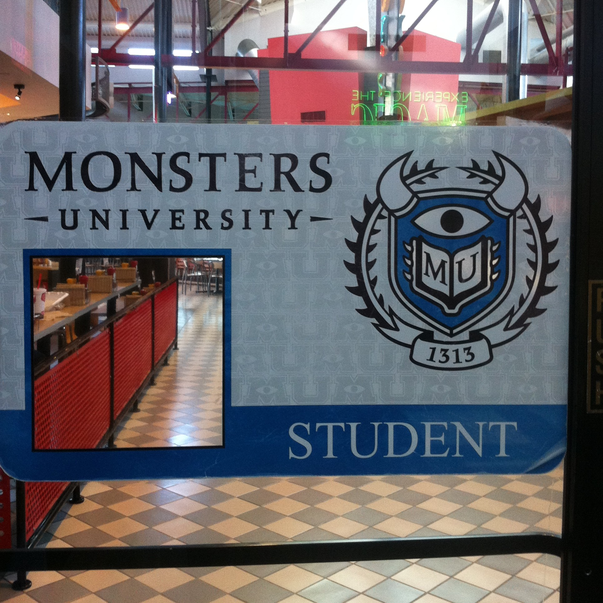 Monsters University - ID Cling