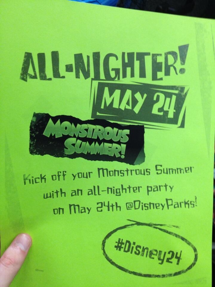 Monstrous Summer All-Nighter Flyer