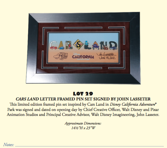 D23 Expo 2013 Silent Auction - Product 3