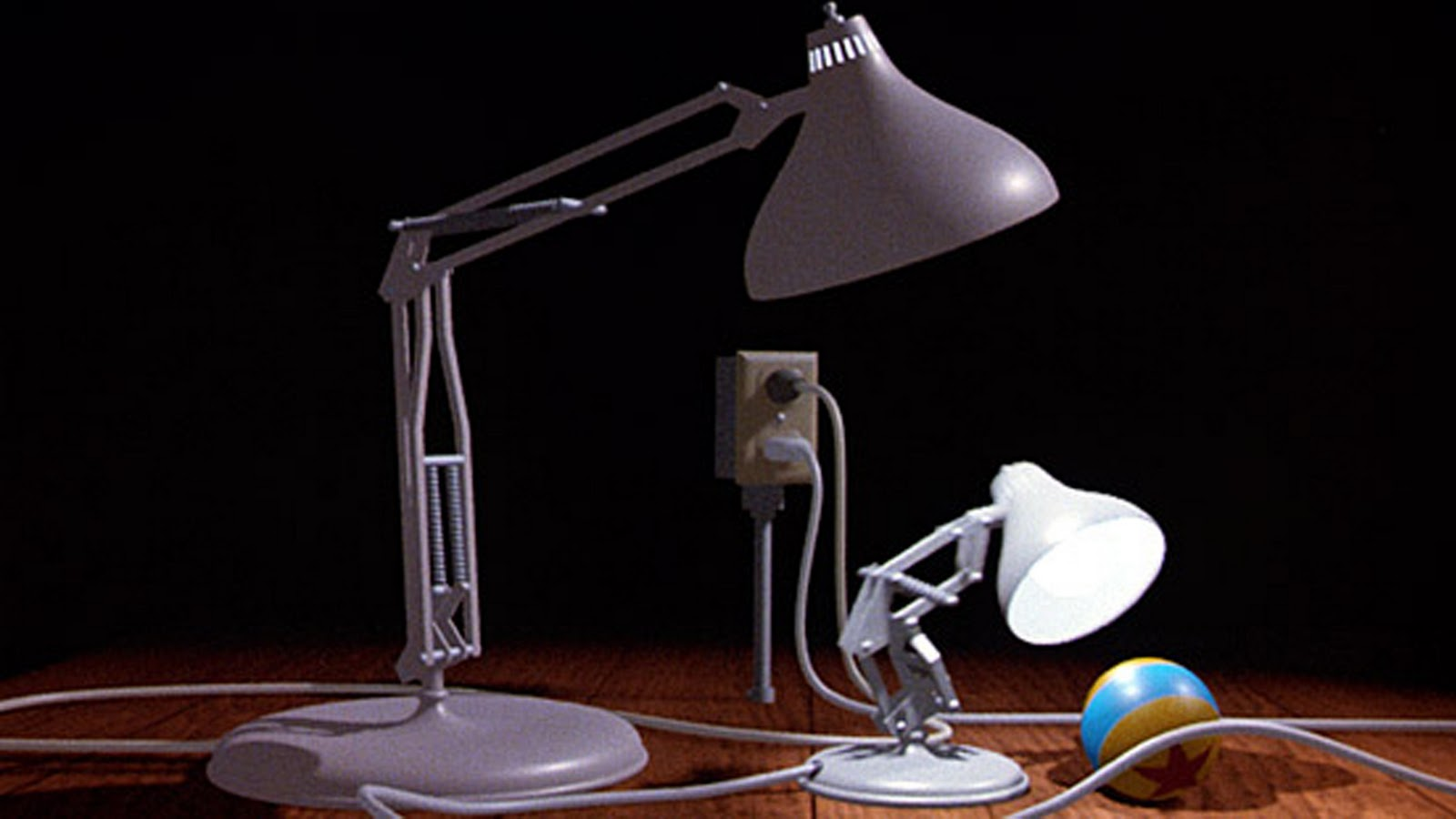 Luxo lamps in 'Luxo Jr.'