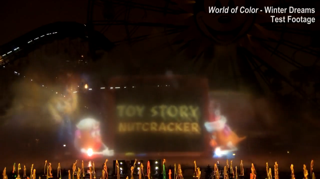 World of Color - Toy Story Nutcracker Test