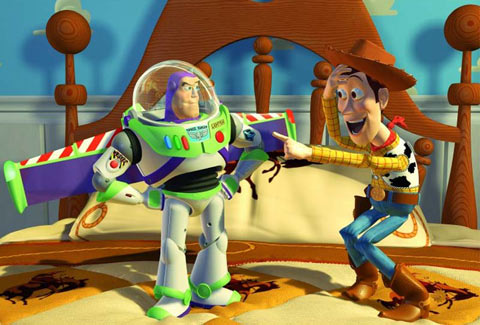 But in the opening act  he s utterly convinced that the box in which he was  stored for Andy s amusement is his spaceship  a fact that rankles Woody to  a. The Pixar Perspective on The Pixar Moment in  Toy Story