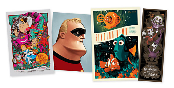 Finding Nemo & The Incredibles Mondo Posters