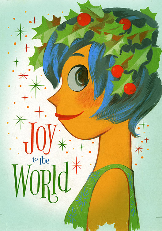2014 holiday card inside out - Artistic Holiday Cards