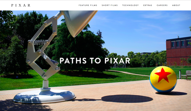 Pixar.com - Paths to Pixar