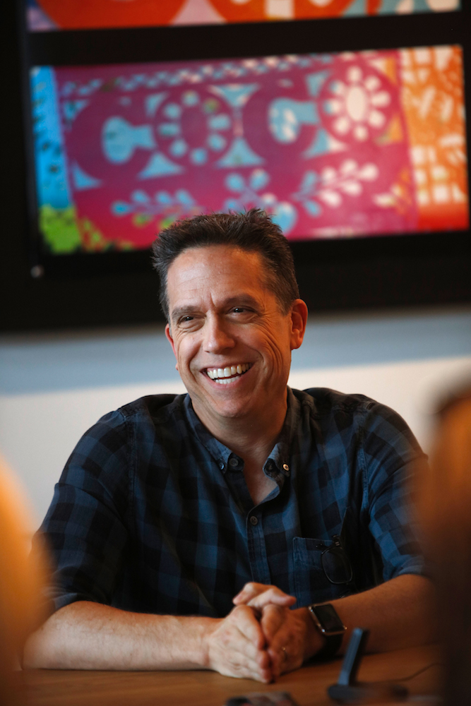 "Director Lee Unkrich at ""Coco"" Long Lead Press Day, which included a filmmaker roundtable, presentations about the music, story, characters and set designs of the film, on August 3, 2017 at Pixar Animation Studios in Emeryville, Calif. (Photo by Deborah Coleman / Pixar)"