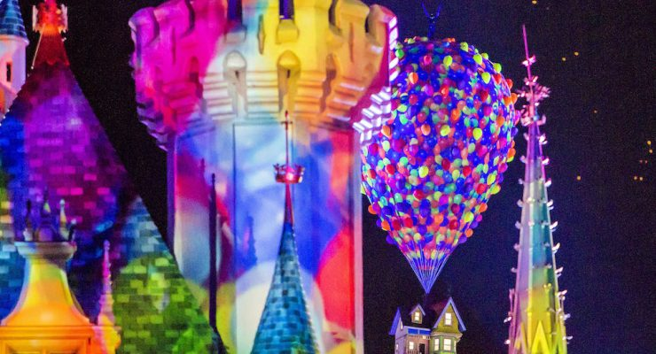 Watch: A Close Look At Pixar Fest's Fireworks Show
