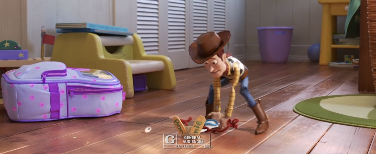 A screencrap from the latest 'Toy Story 4' TV commercial