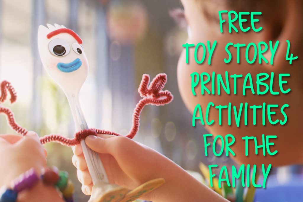 Toy Story 4 Activities Header