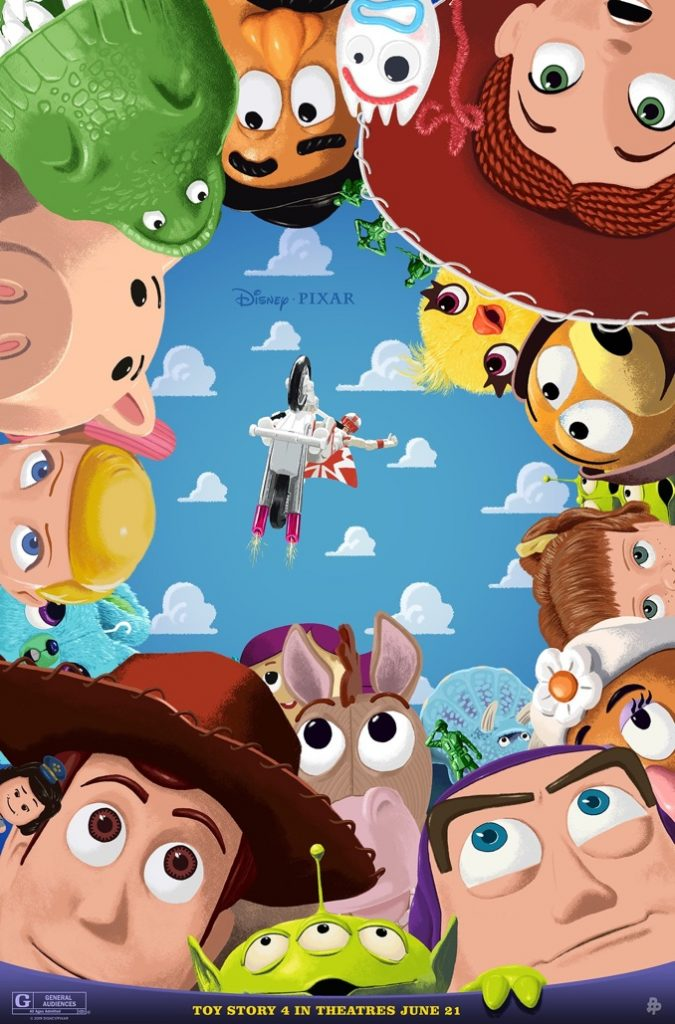 Toy Story 4 Poster by Andrew Swainson