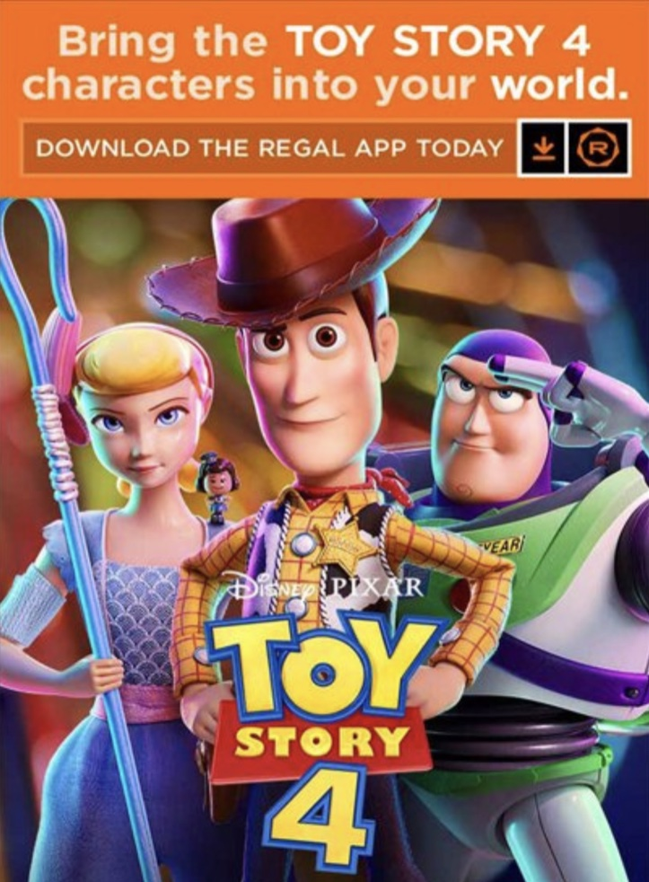 Toy Story 4 - Regal App 1